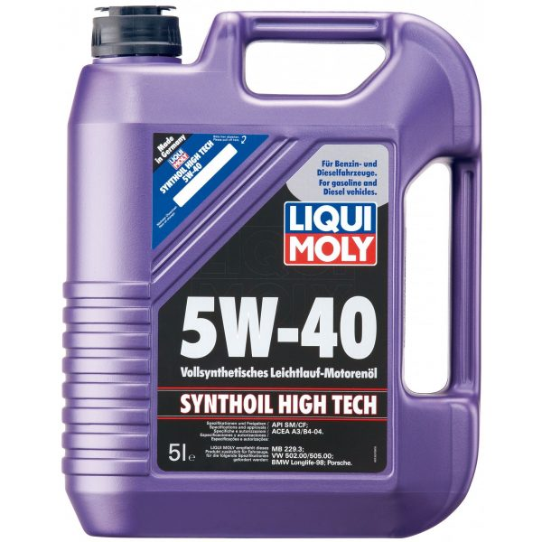 Ulei motor Liqui Moly Synthoil High Tech, 5W40, 5L