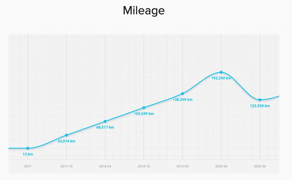 Grafic Kilometri Reali